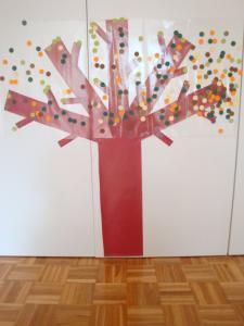 Jesensko drevo - drekoracija igralnice