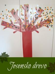 Jesensko drevo - dekoracija
