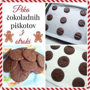 Peka čokoladnih piškotov z otroki