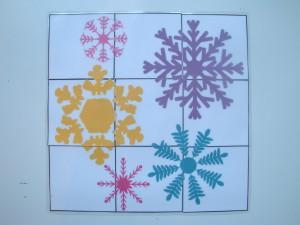 Zimska sestavljanka - snežinke