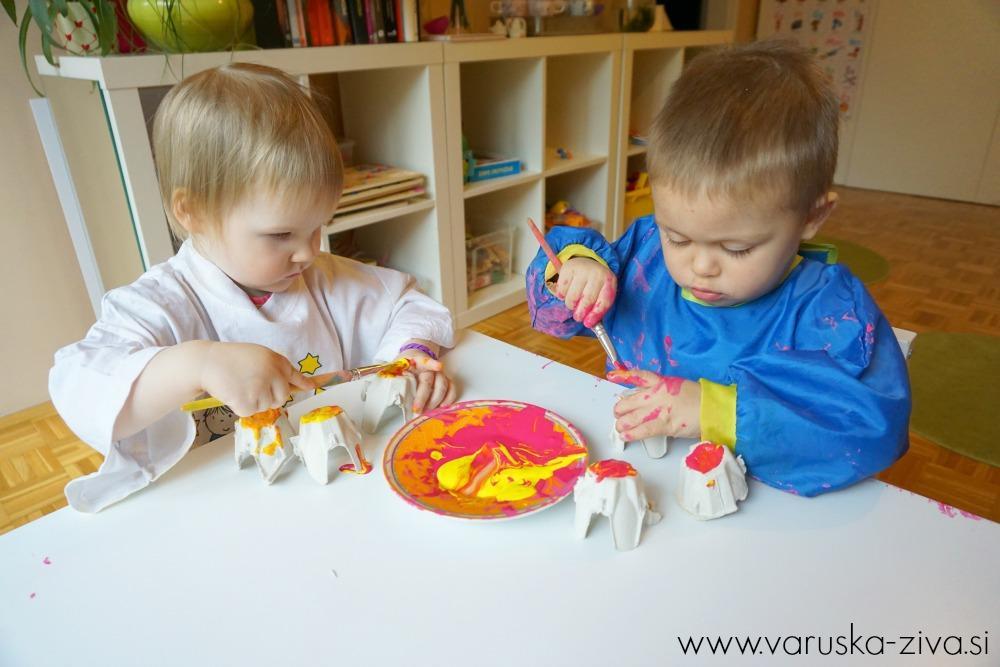Rožice iz jajčnih kartonov, Ustvarjanje za materinski dan