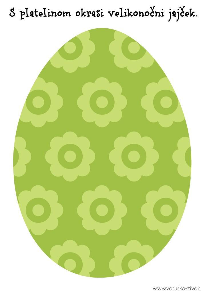 Velikonočni jajček zelen