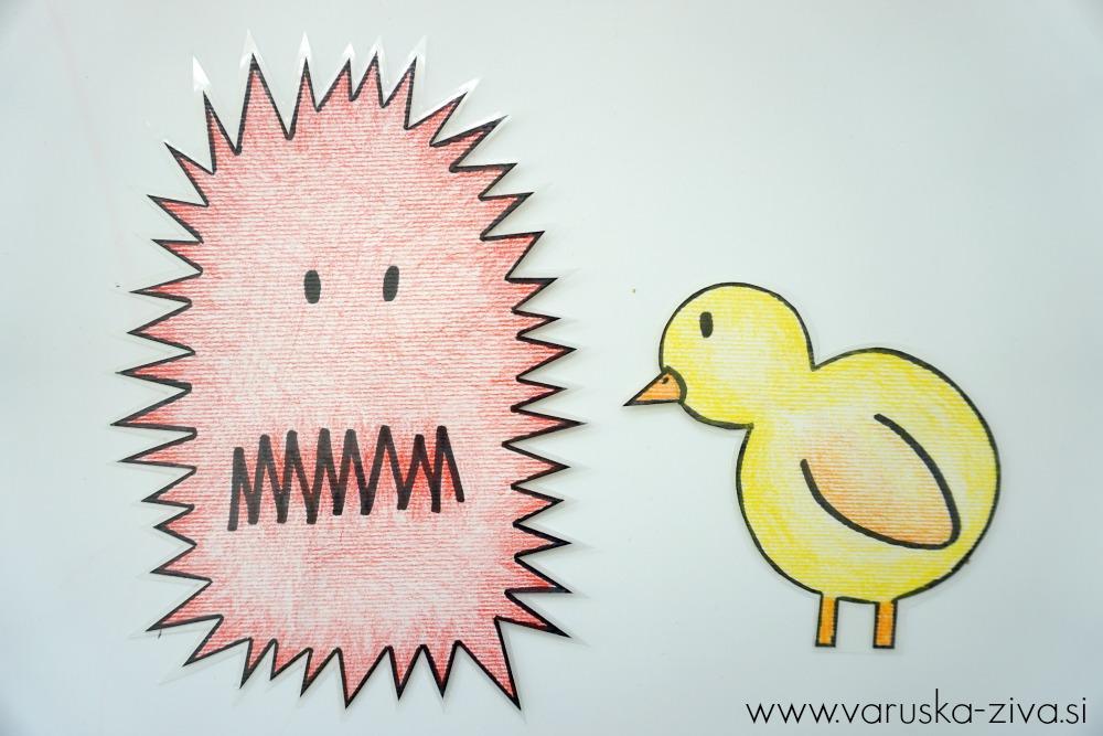 Piščanček pik - jeza