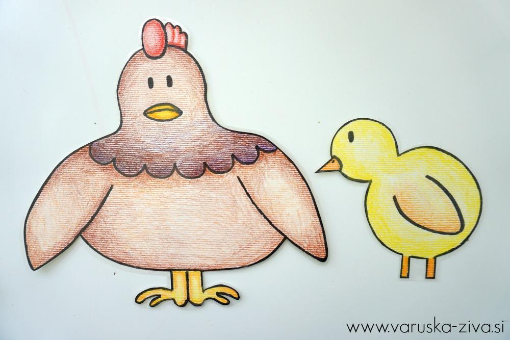 Piščanček pik - mama koklja