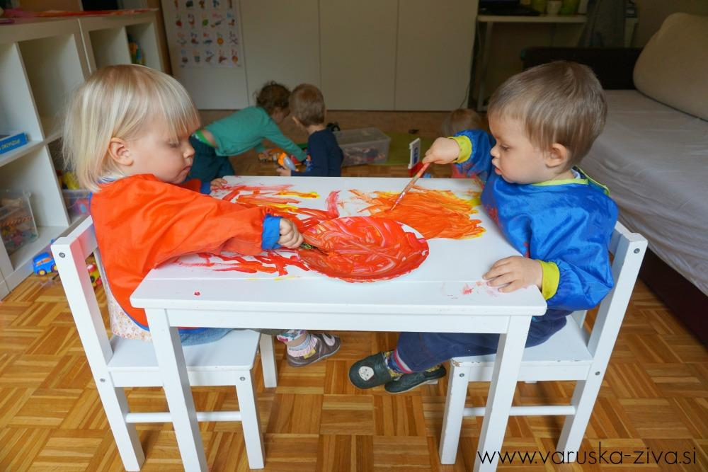 Izdelava veternic z otroki