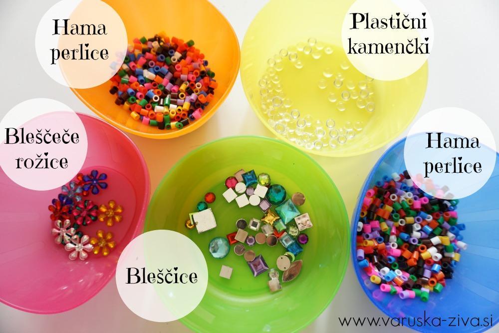 Materiali za okrasitev metuljčka iz plastelina
