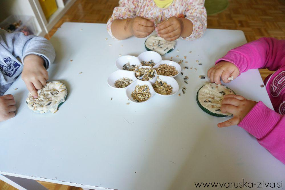 Ustvarjanje s slanim testom in žiti