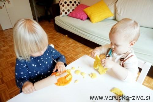 Jesenski plastelin - domači plastelin, modelčki za piškote, valjar