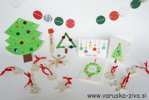 Praznična ustvarjalna škatlice - praznične aktivnosti za otroke