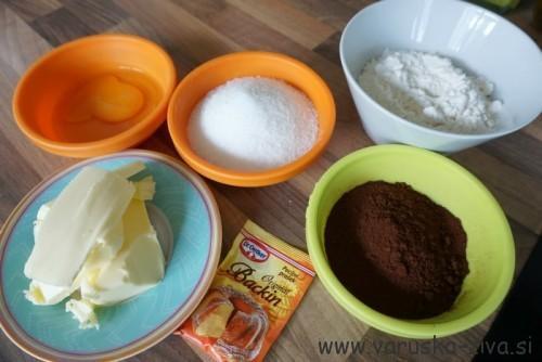 Kakavovi piškoti - sestavine