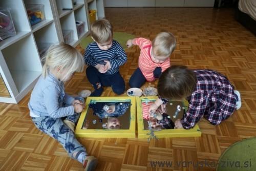 Igra z drobnim zimskim materialom - zimske aktivnosti