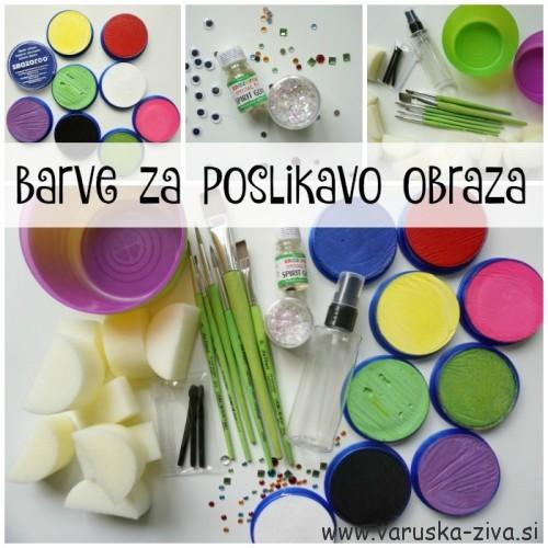 Barve za poslikavo obraza Snazaroo