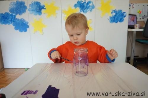 Slikanje z barvami za steklo