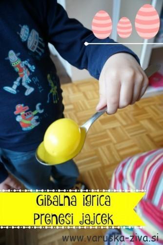 Gibalna igrica - prenesi jajček