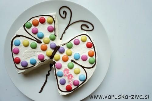 Tortica v obliki metuljčka