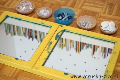 Igra z ogledalom in drobnimi delci - zimske aktivnosti za otroke
