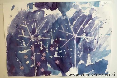 Zimska slika - zimska likovna aktivnost