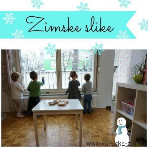 Lepljive zimske slike - zimske aktivnosti za otroke