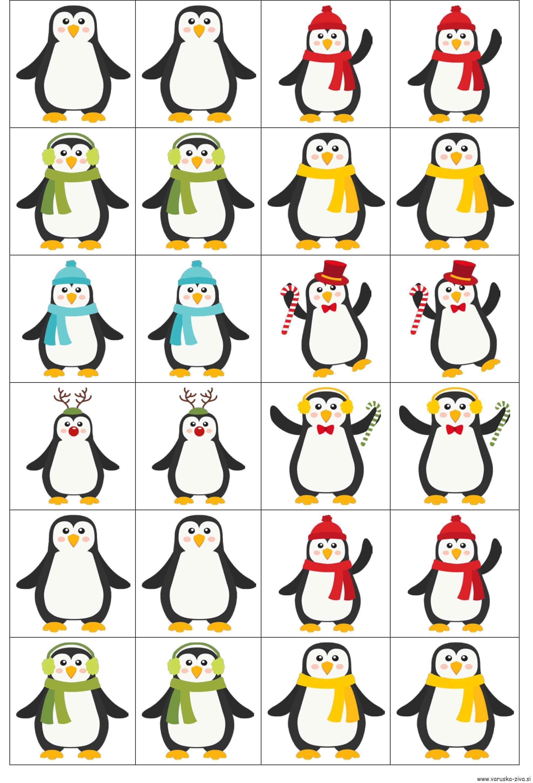 Spomin - pingvini, Matematika za malčke