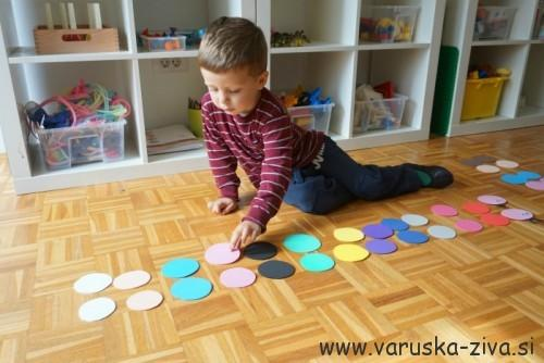 Barvna gosenica - učenje barv