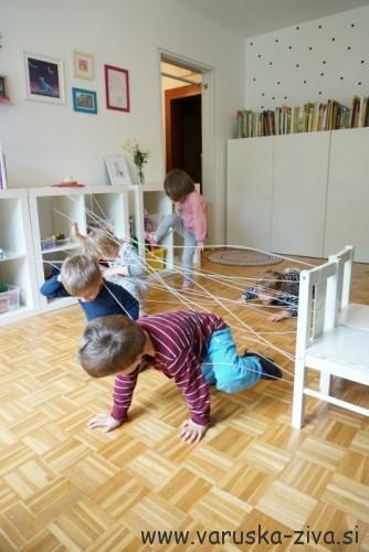 Pajkova mreža - gibalna aktivnost