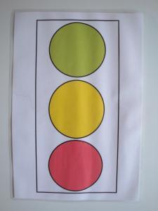 Predloga za plastelin - semafor