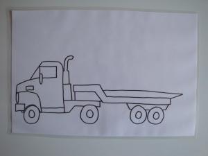 Predloga za plastelin - tovornjak