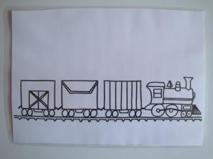 Predloga za plastelin - vlak