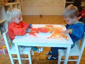 Slikanje s čopičem in temperami
