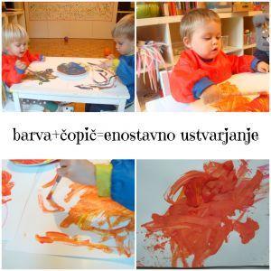 barva+čopič=enostavno ustvarjanje