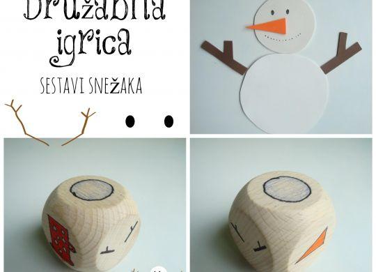 Družabna igrica - sestavi snežaka