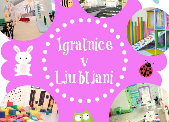 Igralnice in prostori za praznovanje rojstnih dni v Ljubljani