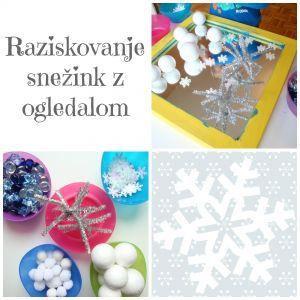 Raziskovanje snežink z ogledalom