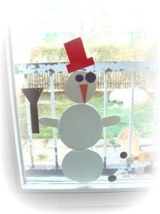 Sestavljanka iz moos gume - Snežak