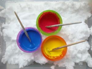 Barvanje snega - Zimske aktivnosti