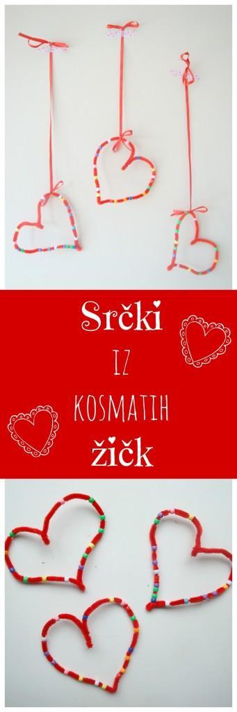 Srčki iz kosmatih žičk - Valentinovo ustvarjanje