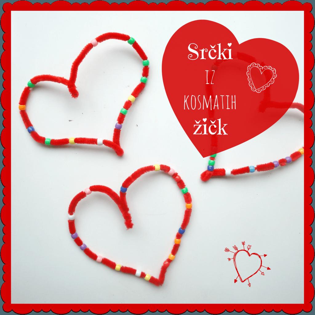 Srčki iz kosmatih žičk - Valentinovo ustvarjanje z otroki