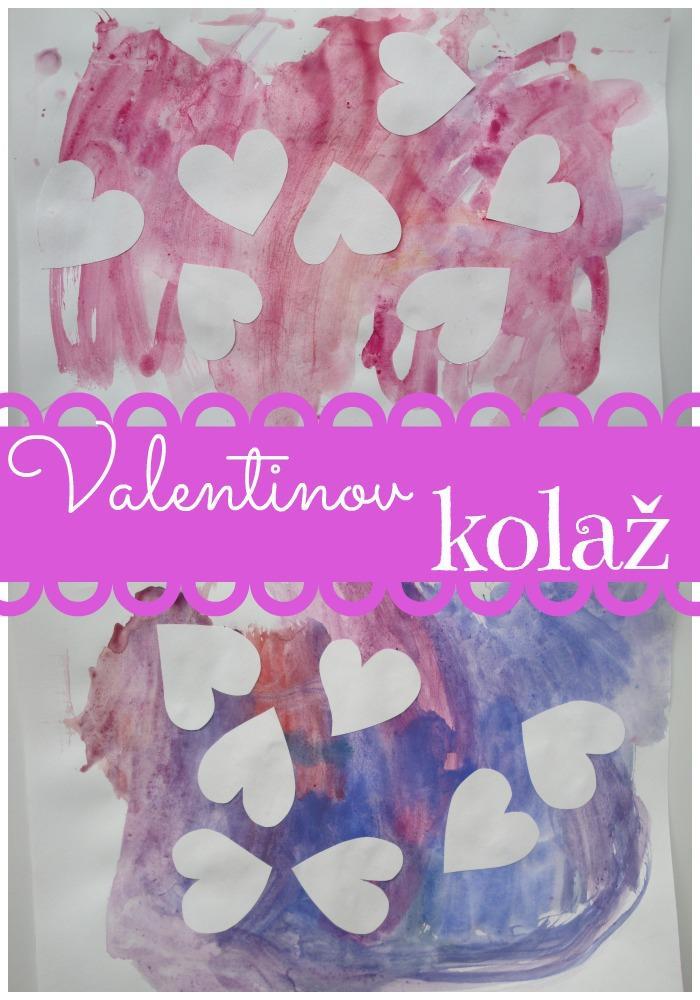 Valentinov kolaž - Valentinove dejavnosti za otroke