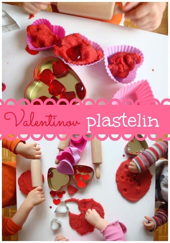 Valentinov plastelin - Valentinove dejavnosti za otroke