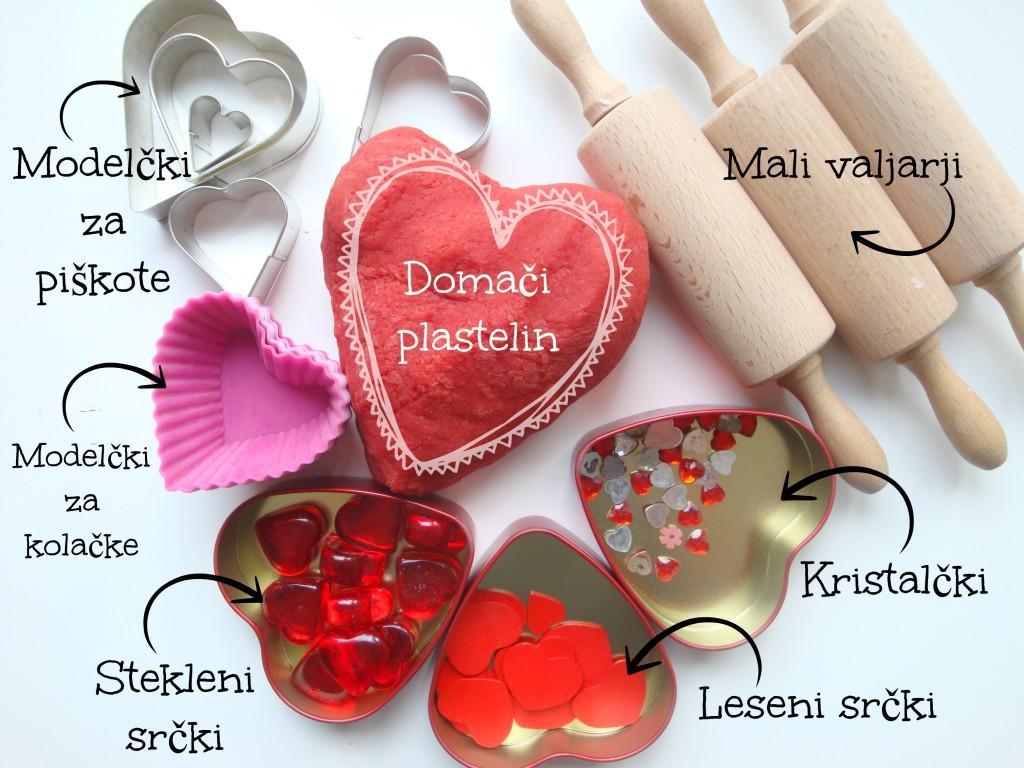 Valentinov plastelin - Dejavnosti za valenitnovo - pripomočki