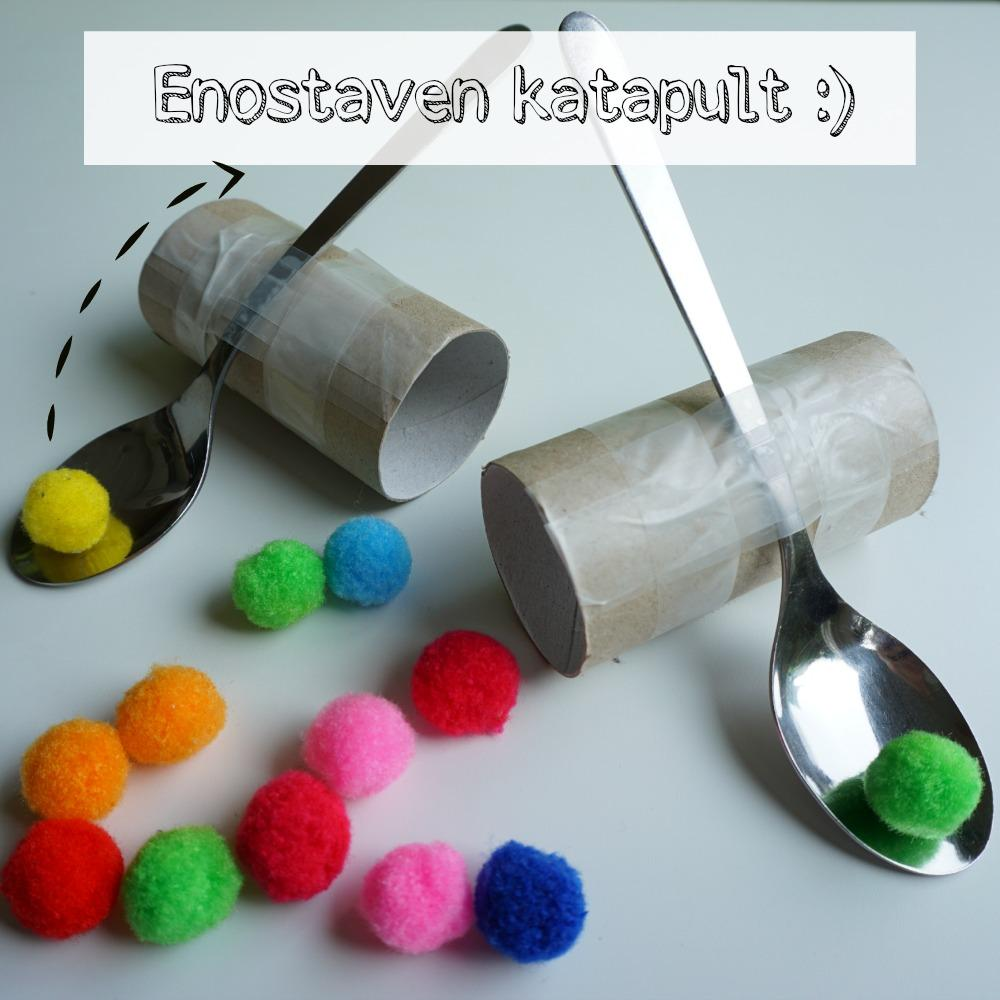 Enostaven katapult, Enostavni poskusi za otroke