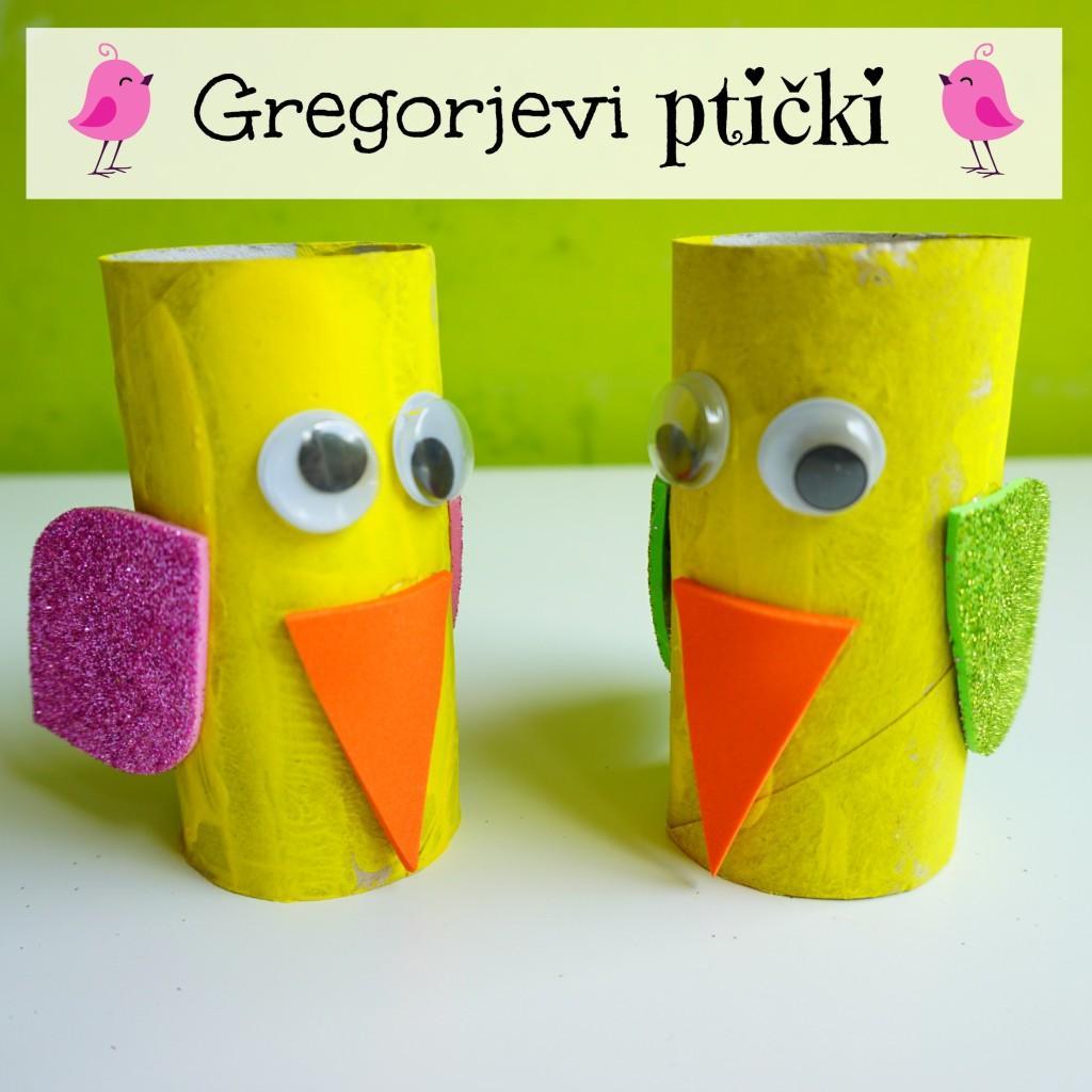 Gregorjevi ptički, Gregorjevo ustvarjenje z otroki