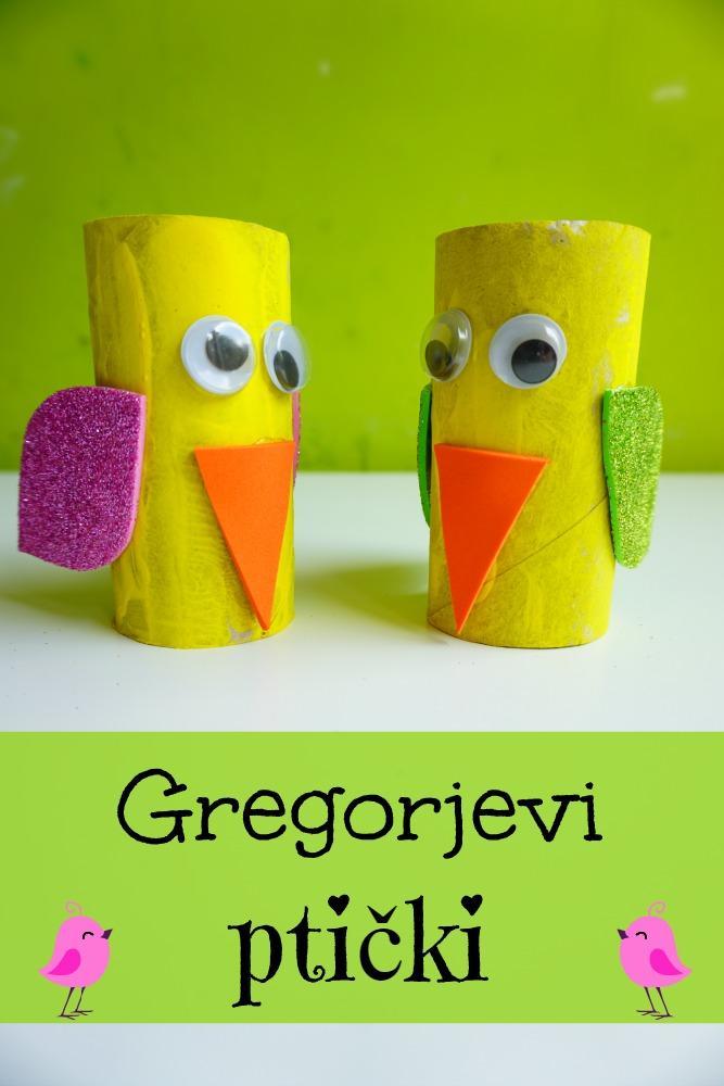 Gregorjevi ptički, Gregorjevo ustvarjanje z otroki