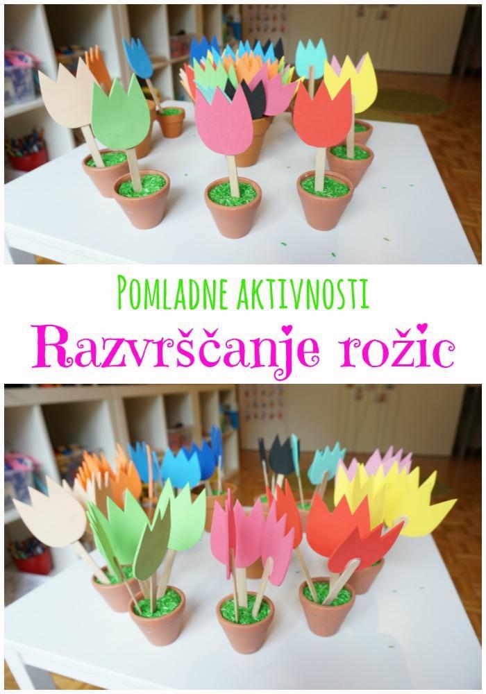 Pomladne aktivnosti za otroke, Razvrščanje rožic