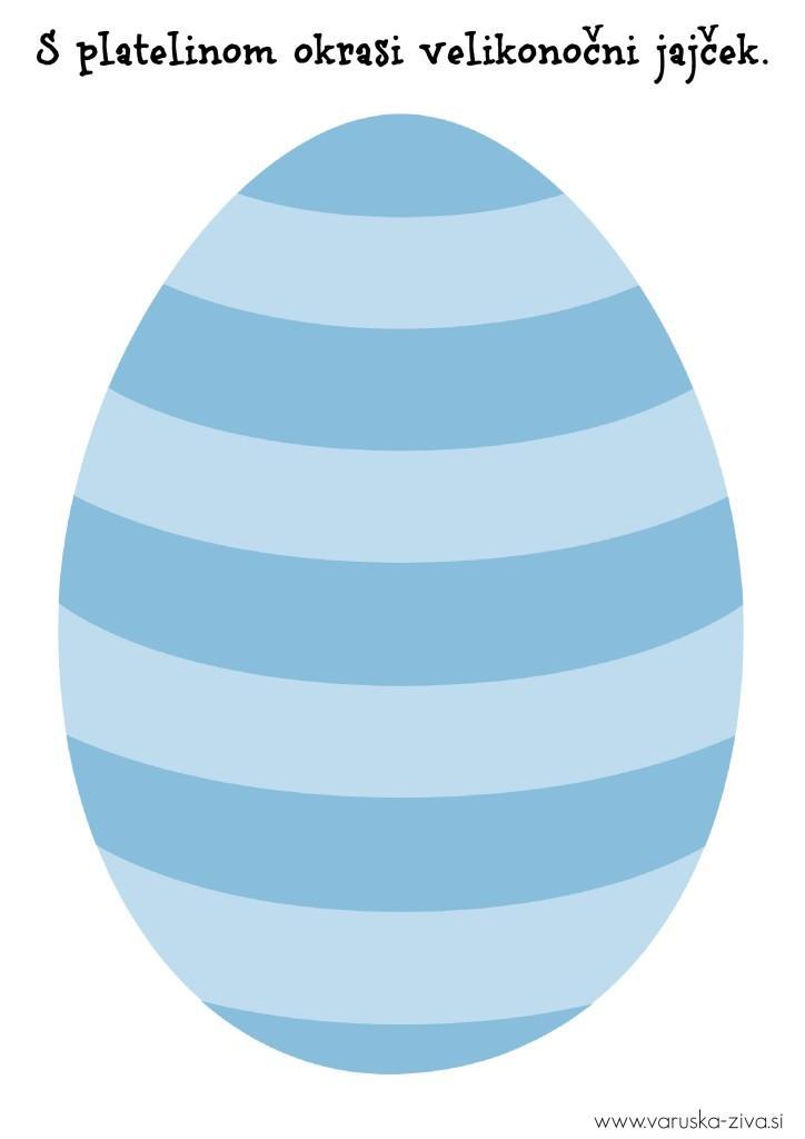 Velikonočni jajček moder