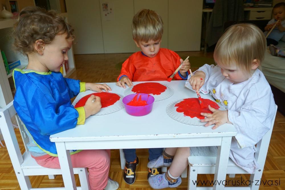 Barvanja papirnatega krožnika