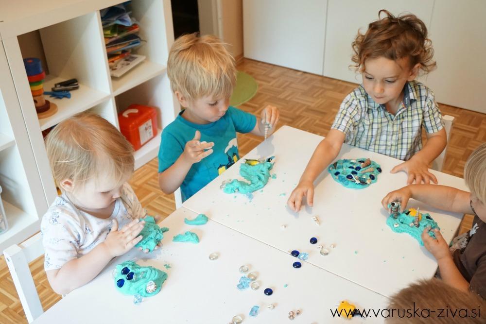 Ustvarjanje s plastelinom na morsko tematiko