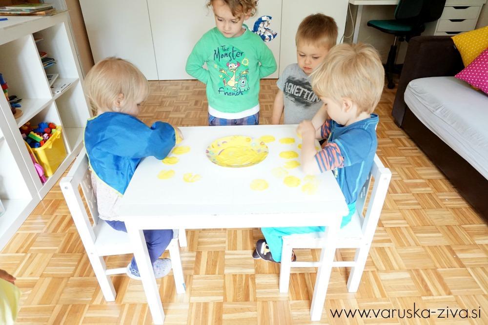 Tiskanje z limono - Poletne dejavnosti za otroke