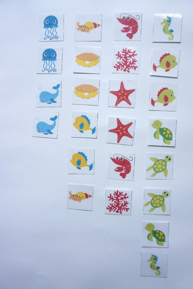 Razvrščanje morskih živali po barvi