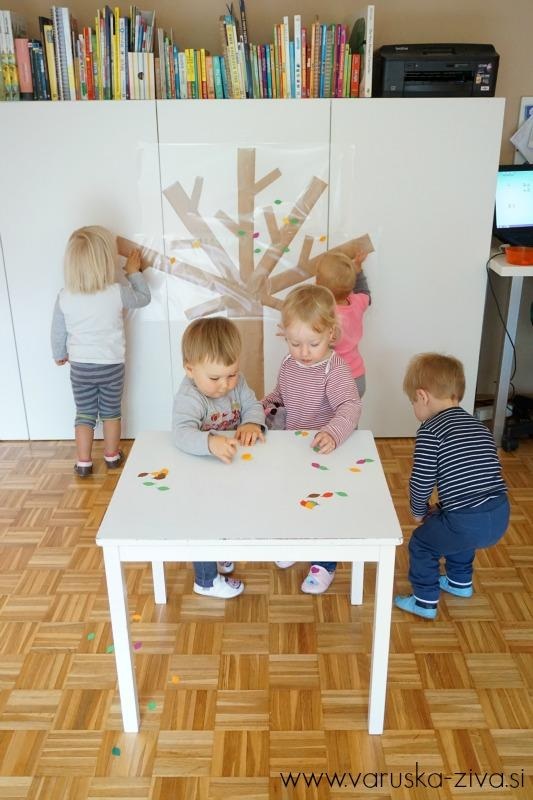 Jesensko drevo - zabavna jesenska dejavnost